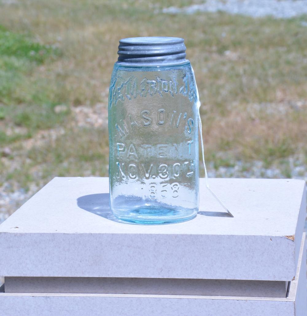 Unusual Error The Marion Mason's 1858 Quart Fruit Jar