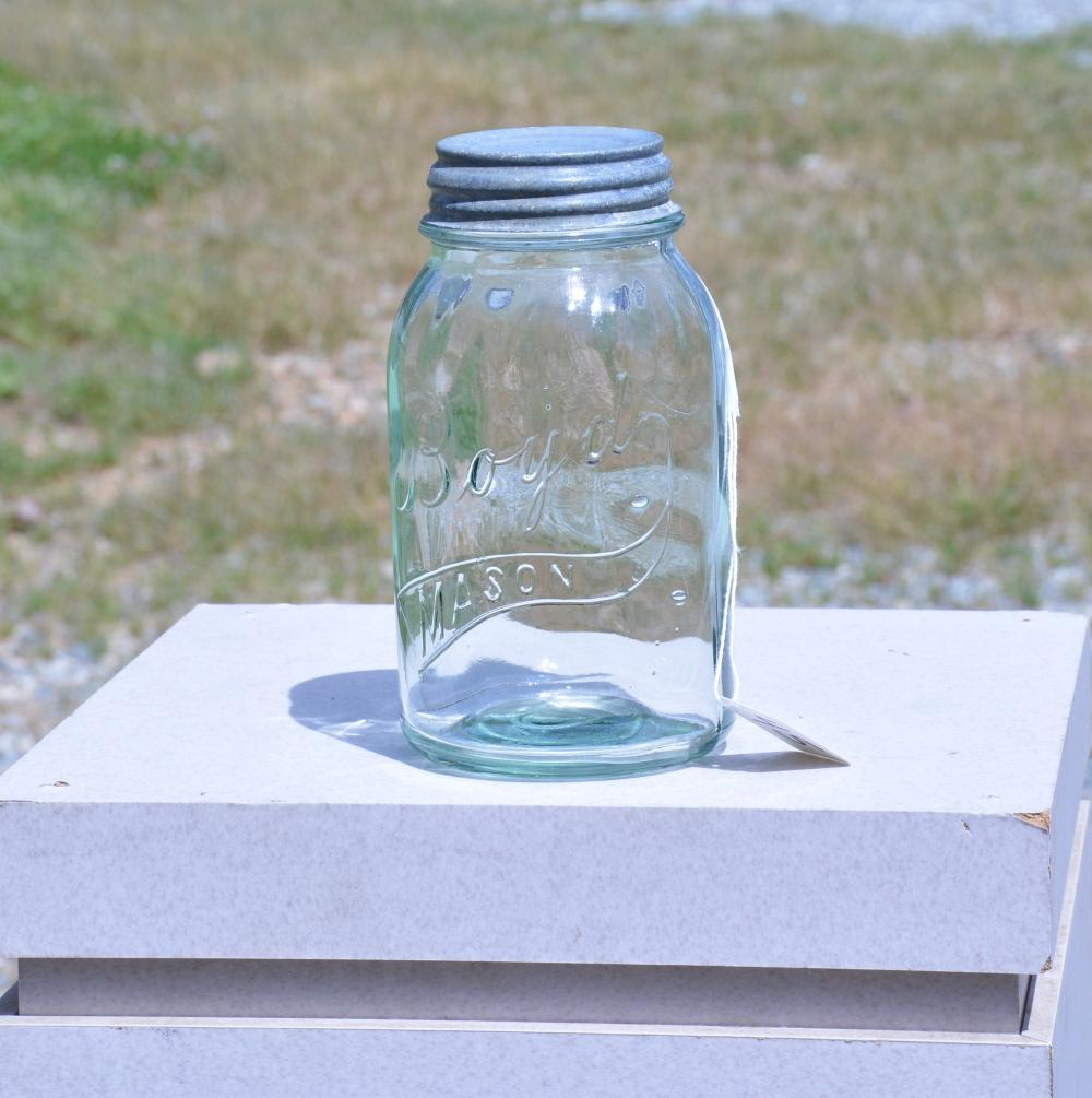 Boyd Mason Quart Mint Green Fruit Jar