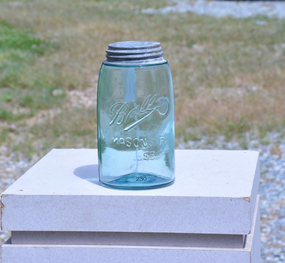 Ball Improved Ghost Masons 1858 Quart Fruit Jar