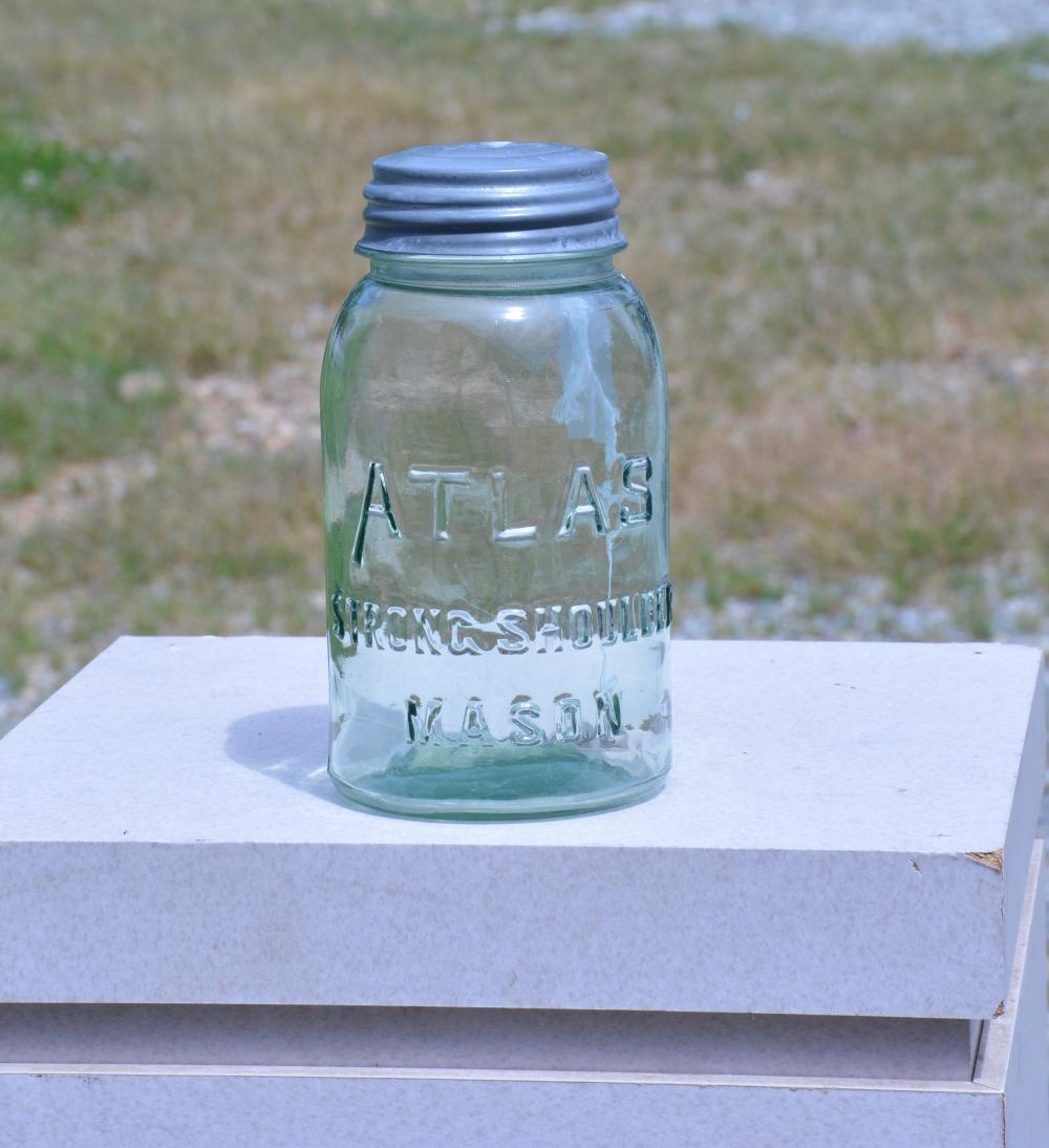 Atlas Strong Shoulder Mason Quart Fruit Jar