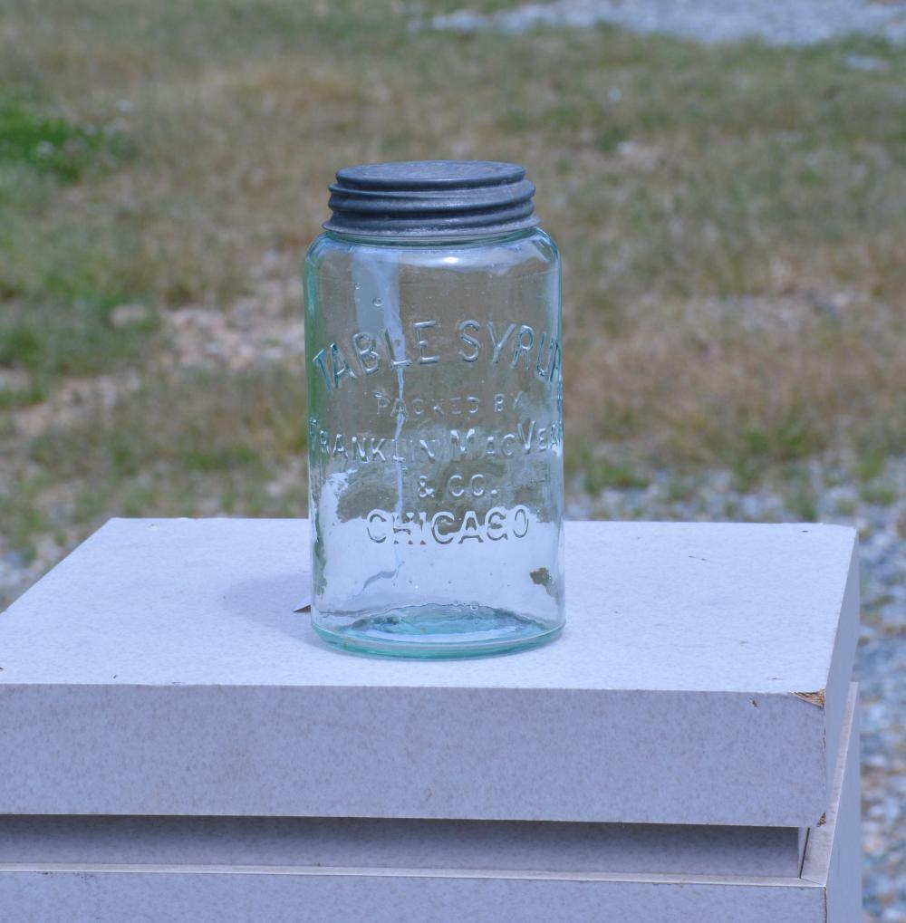 Table Syrup Franklin MacVeagh & Co. Chicago Quart Fruit Jar