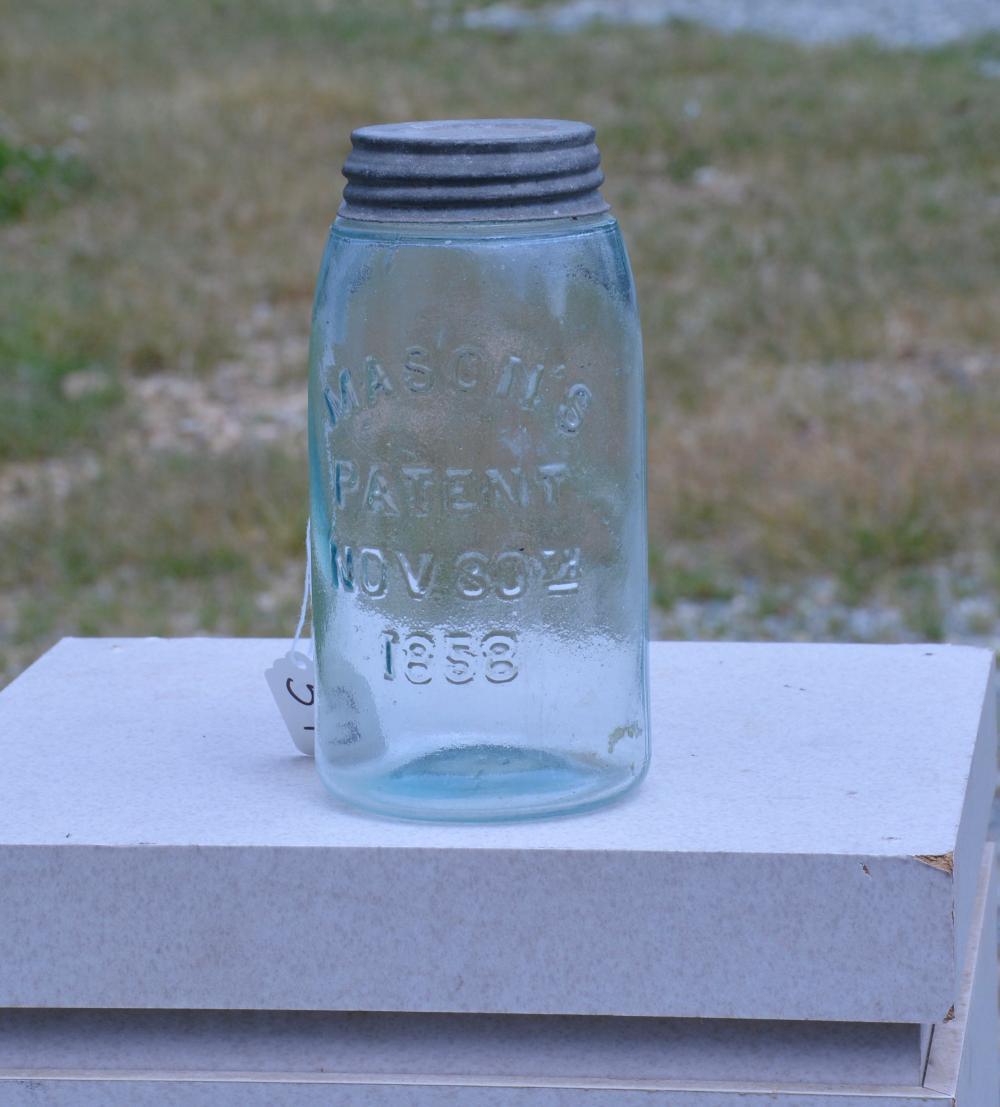 Mason's Patent 1858 Quart Fruit Jar
