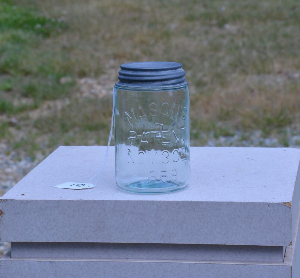 Mason's Patent 1858 BALL Pint Fruit Jar