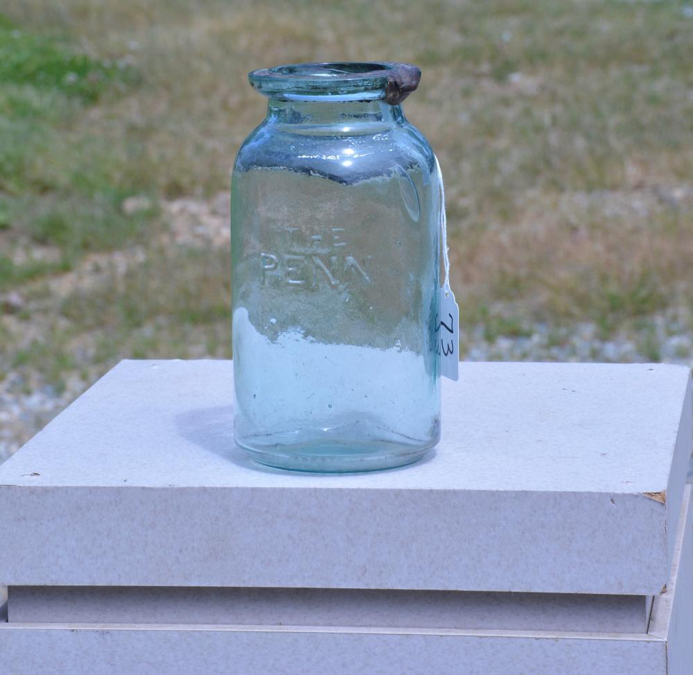 The Penn Beck Phillips & Co.Pitts PA Quart Fruit Jar