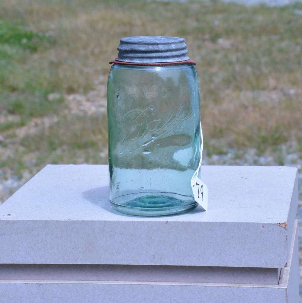 Ball Green Quart Fruit Jar