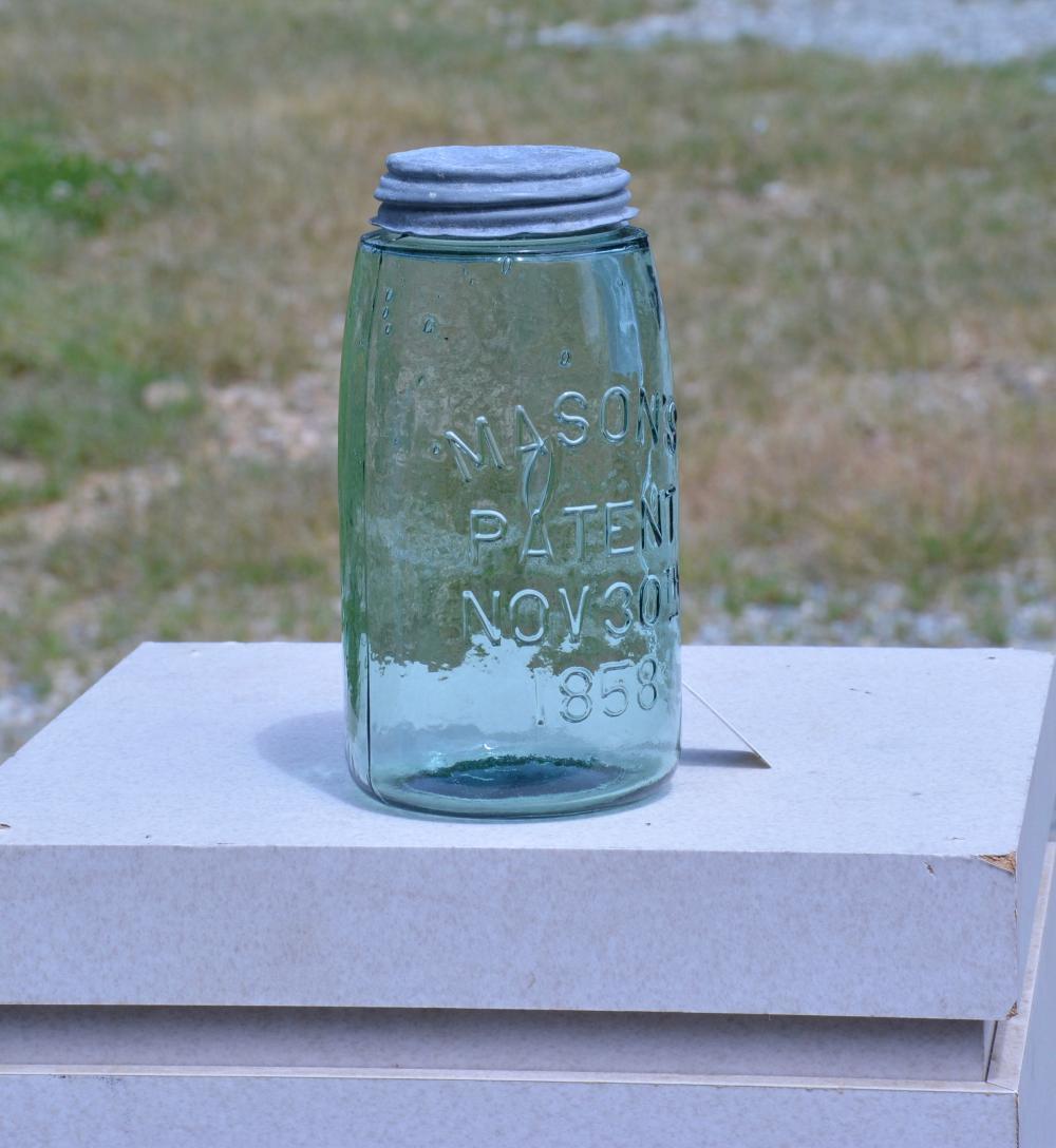 Beautiful Mason's Patent 1858 Quart Fruit Jar