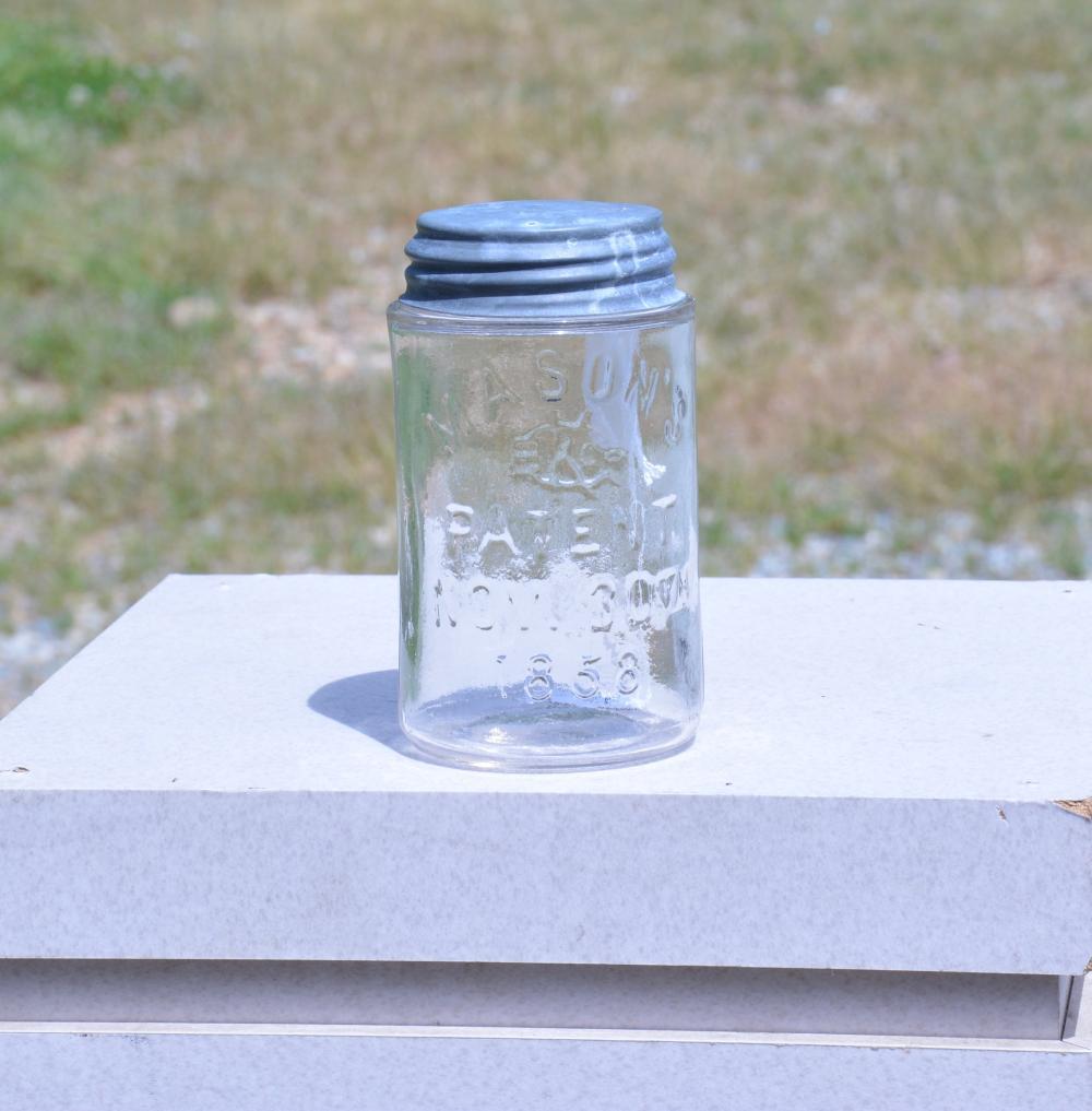 Mason's KGBCo Patent 1858 Pint Clear Fruit Jar