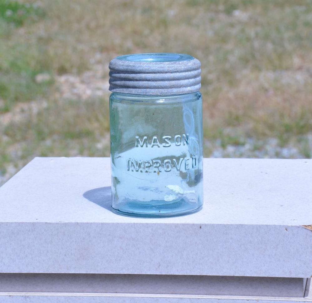 Mason Improved Glass Lid Pint Fruit Jar