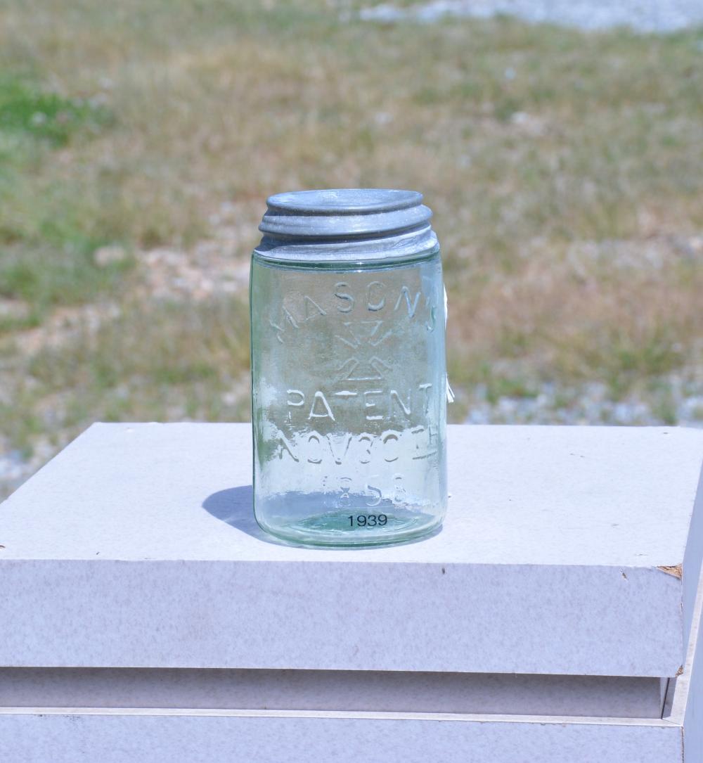 Mason's Iron Cross Patent 1858 Green Pint Fruit Jar
