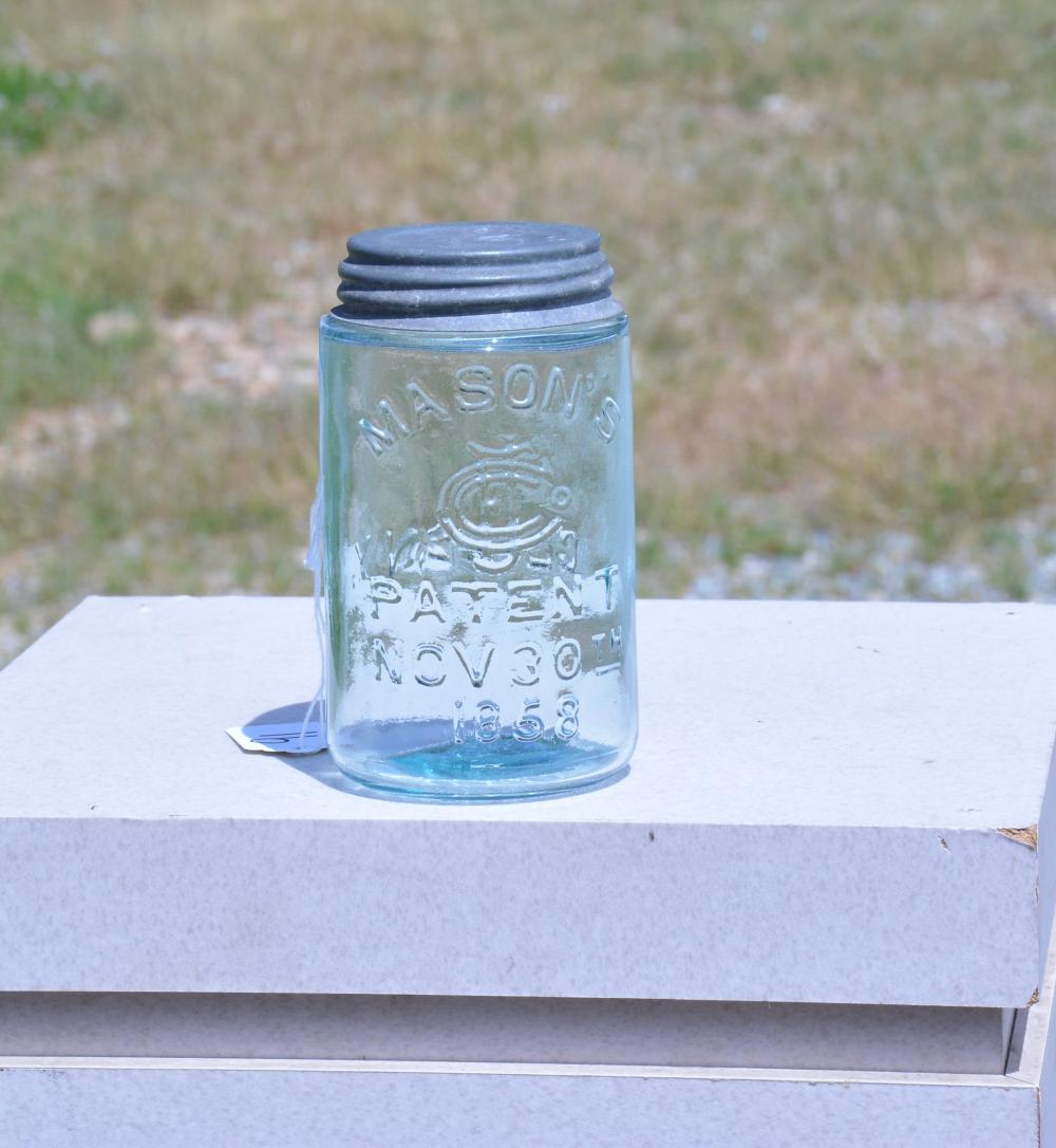 Mason's Monogram Clyde N.Y. Pint Fruit Jar