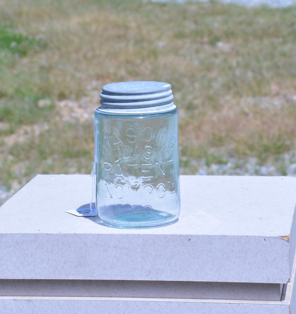 Masons Patent Ghost Ball Pint Fruit Jar