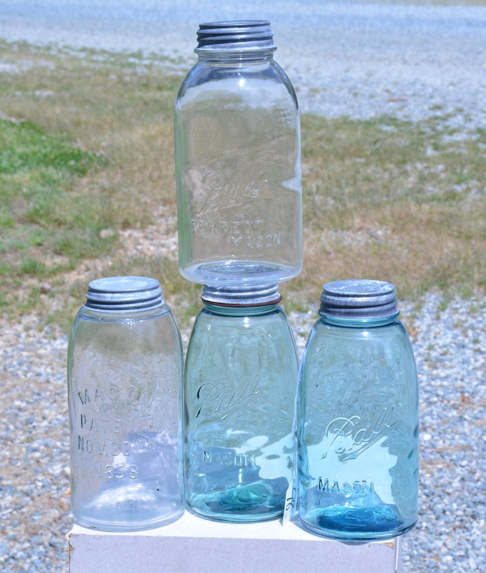 Antique Half Gallon Fruit Jar Collection