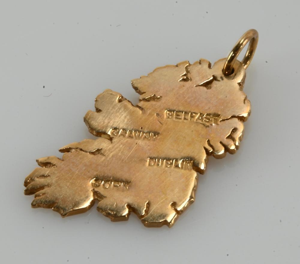 Vintage 9K Gold Designer Ireland Charm