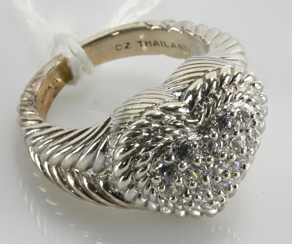 Vintage Judith Ripka CZ Fashion Ring