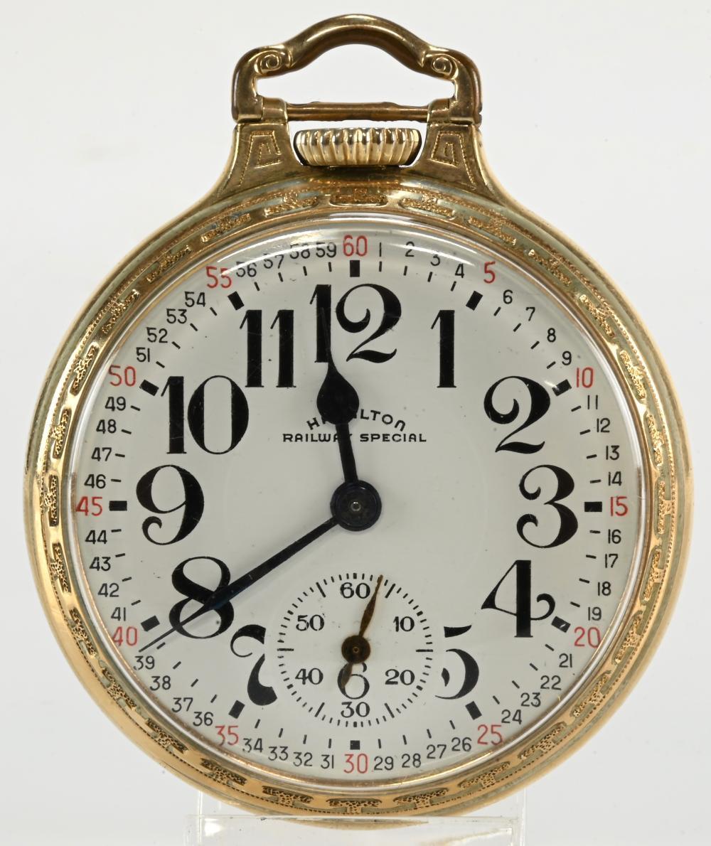 Vintage Hamilton Railway Special 21 J Pocket Watch