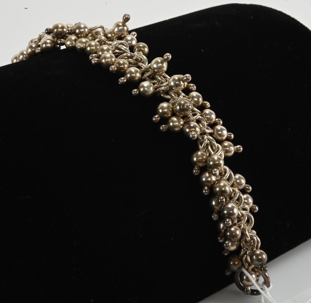 Vintage Sterling Sterling Bead Bracelet