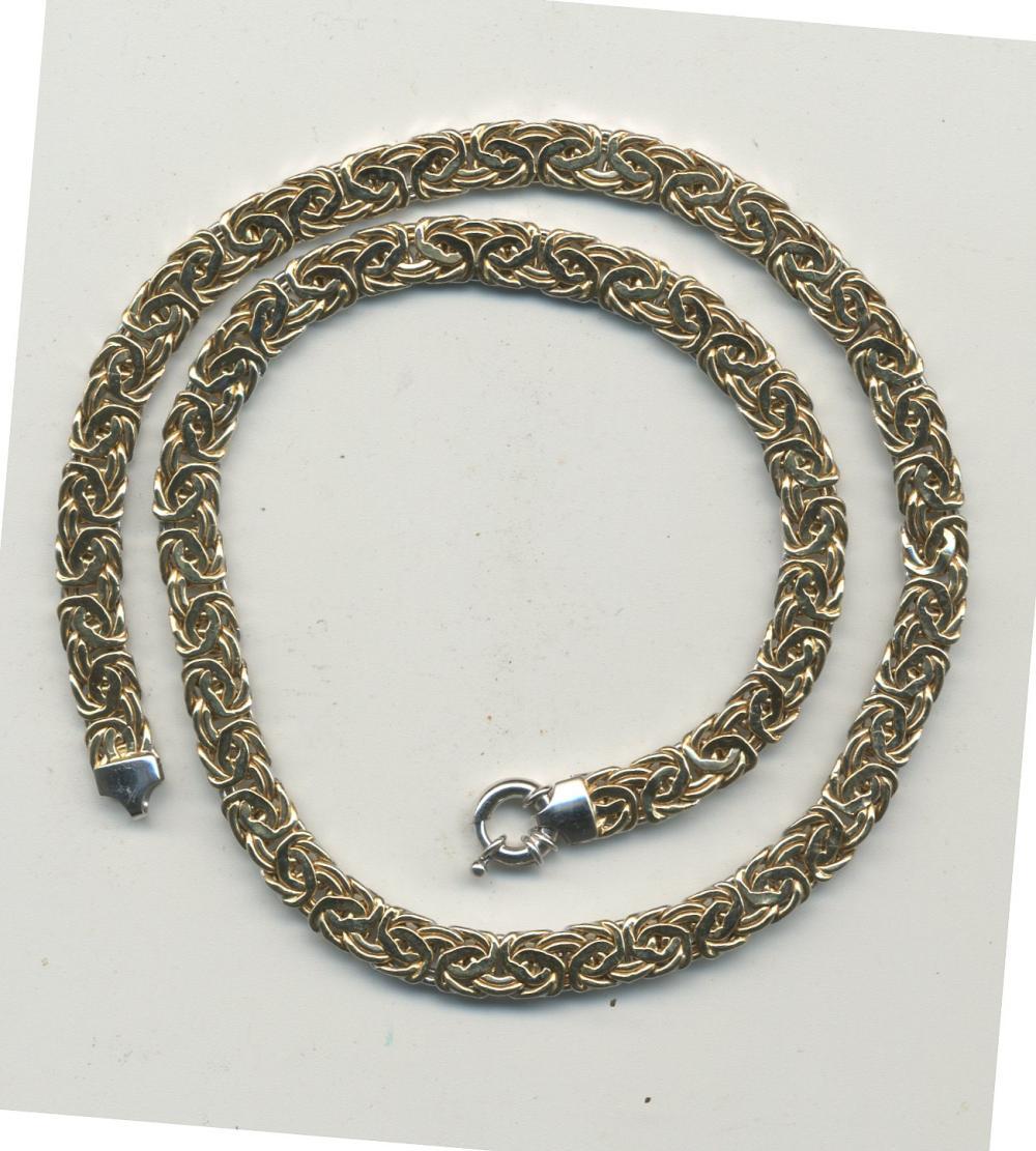 Vintage 14K Gold Designer Two Tone Necklace