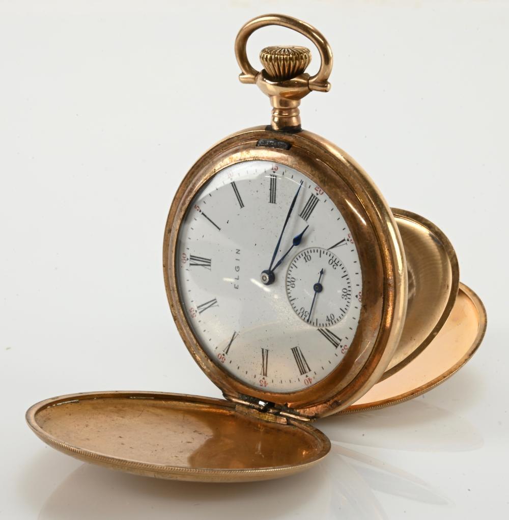 Antique Elgin 15 Jewel Pocket Watch Hunter Case