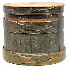 Painted Lidded Bucket