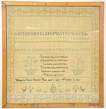 Early American Needlepoint Sampler