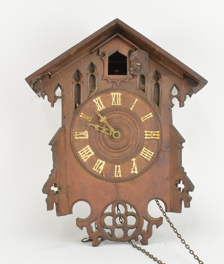Antique German Black Forest Cuckoo Wall Clock