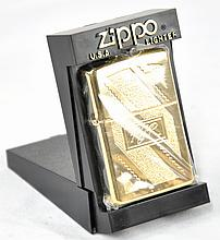 Gold Plated RJR Zippo Lighter