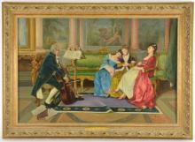 Bernard Louis Borione Paris France Oil Painting