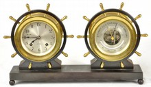 Chelsea Ships Bell Clock and Holosteric Barometer