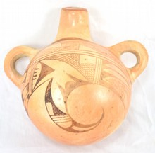 Southwest Native American Saddle Jug