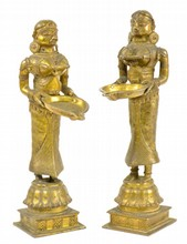 Pair of Deeplakshmi Lamps