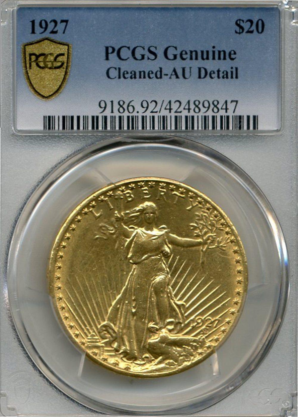 1927 $20.00 Gold Saint Gaudens