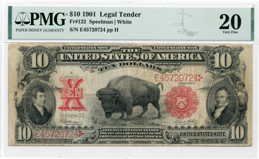 1901 $10.00 Legal Tender Bison Note