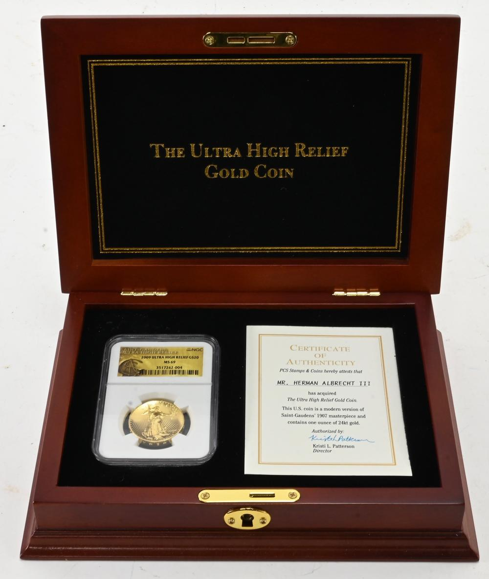 2009 $20.00 Ultra High Relief Gold Coin