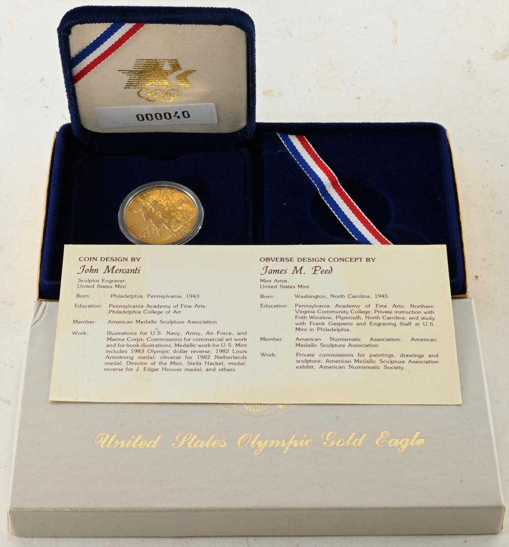 1984-S $10.00 Olympic Gold Coin