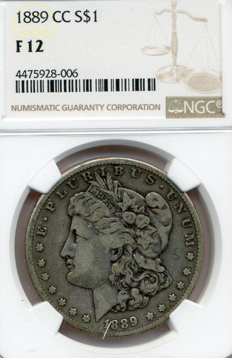 1889-CC Morgan Dollar