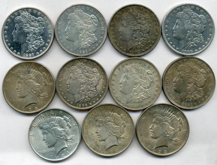 (11) Silver Dollars