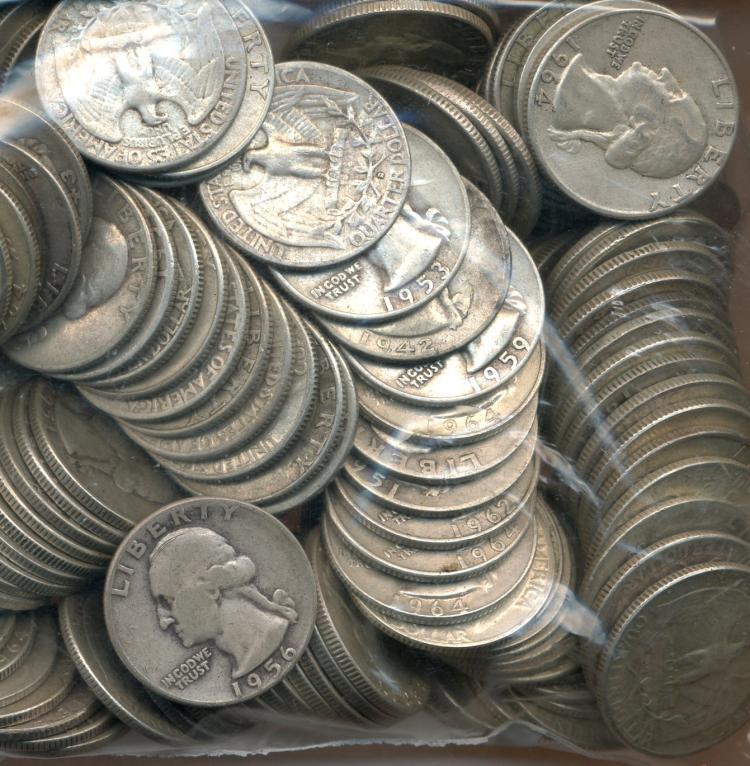 $40.00 Face Washington Quarters