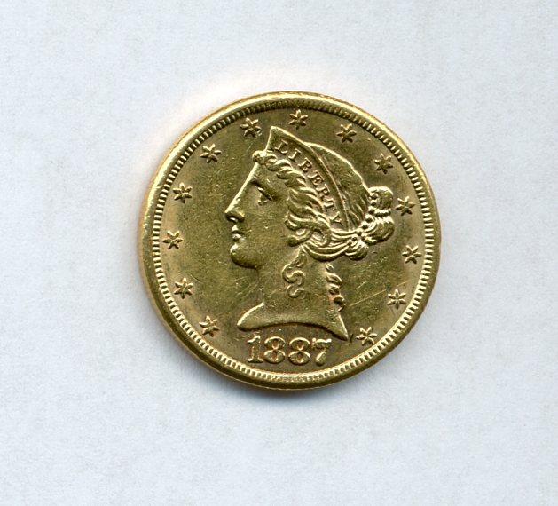 1887-S $5 Gold Liberty