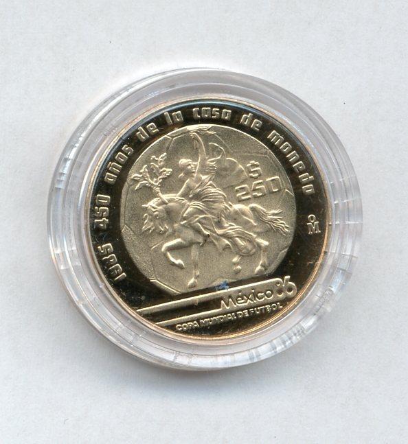 1985 Mexico 250 Pesos Gold 90%
