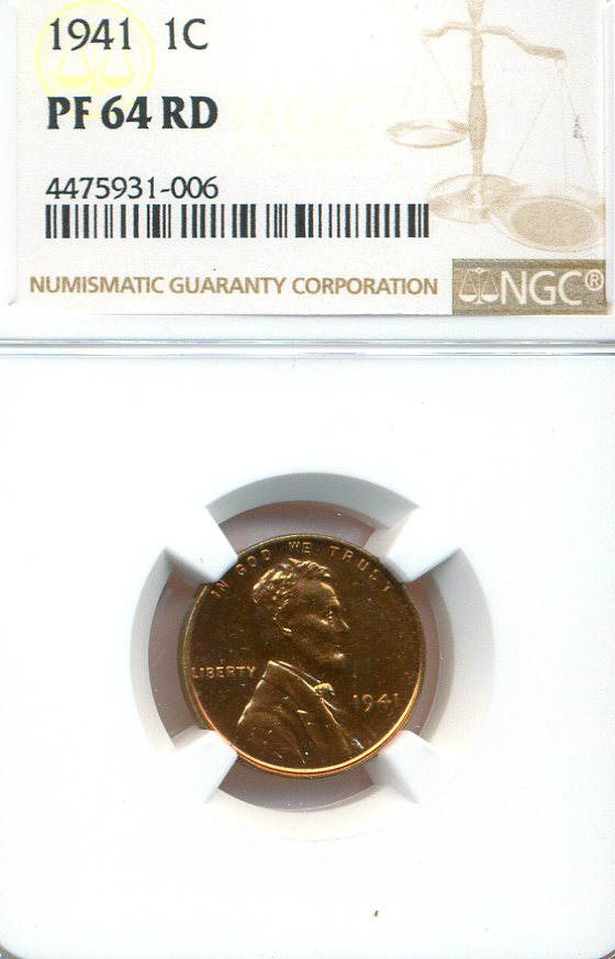 1941 Lincoln Cent Proof