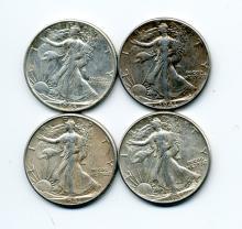 (20) 1940s Walking Liberty Half Dollars