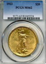 1922 $20.00 Saint Gaudens Gold