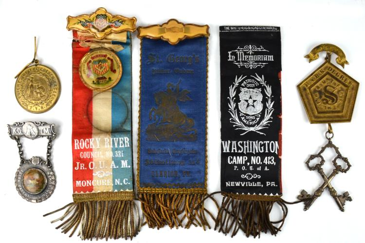 Fraternal Lodge Medals And Ribbons Collection