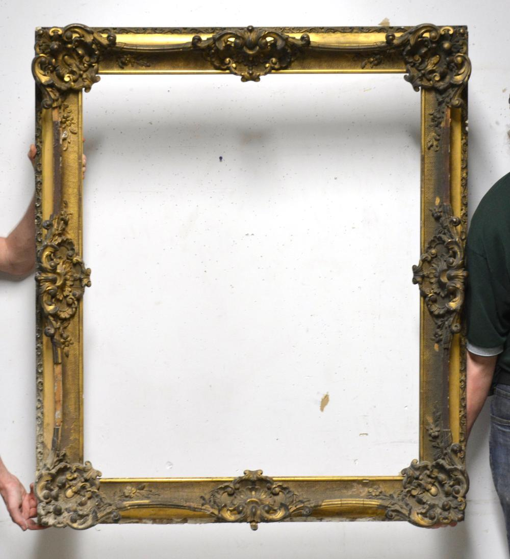 Important Ca. 1840 Gold Gilt Wood Painting Frame