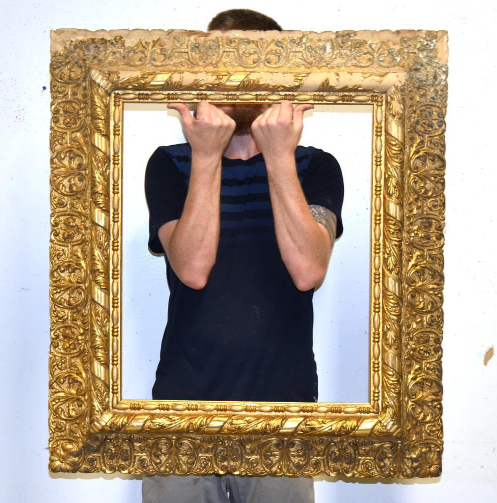 19th Century Gold Gilt Wooden Frame