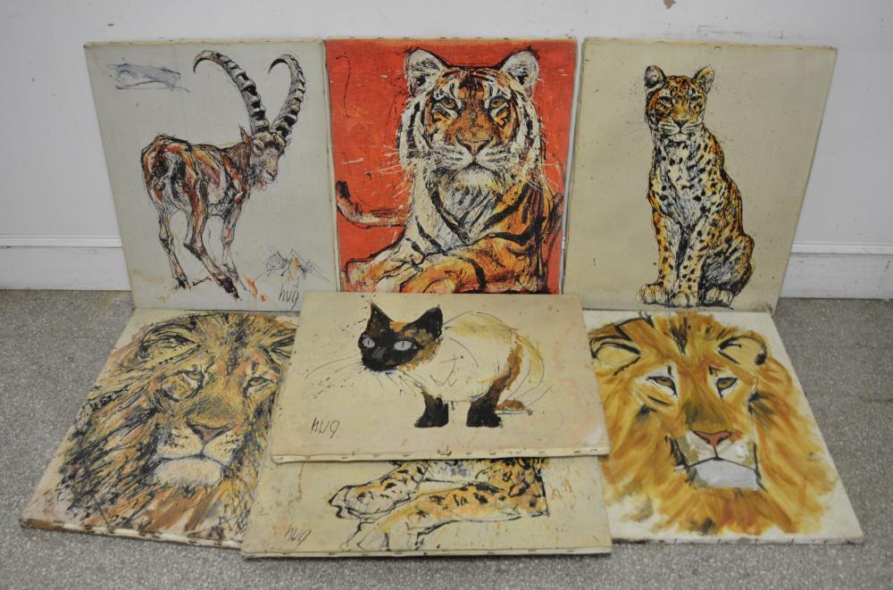 Fritz Rudolf Hug Animal Painting Collection