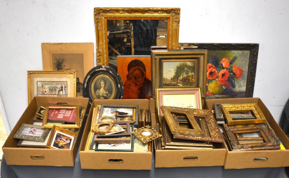 Huge Fine Art Frames Prints Estate Collection