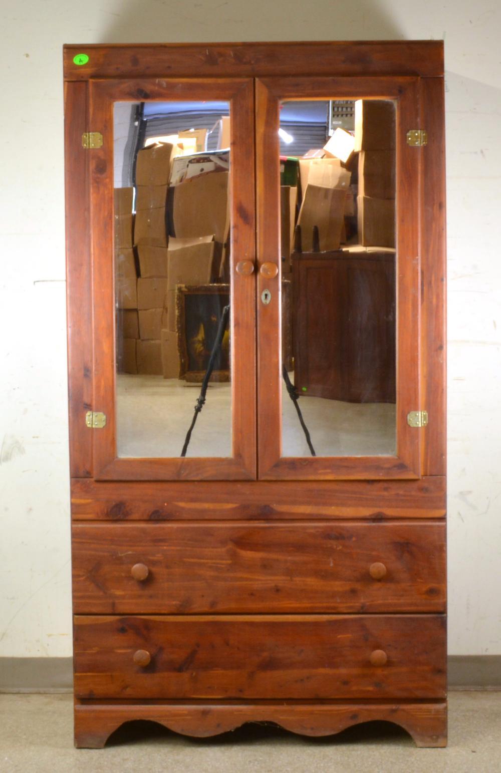 Antique Cedar Wardrobe