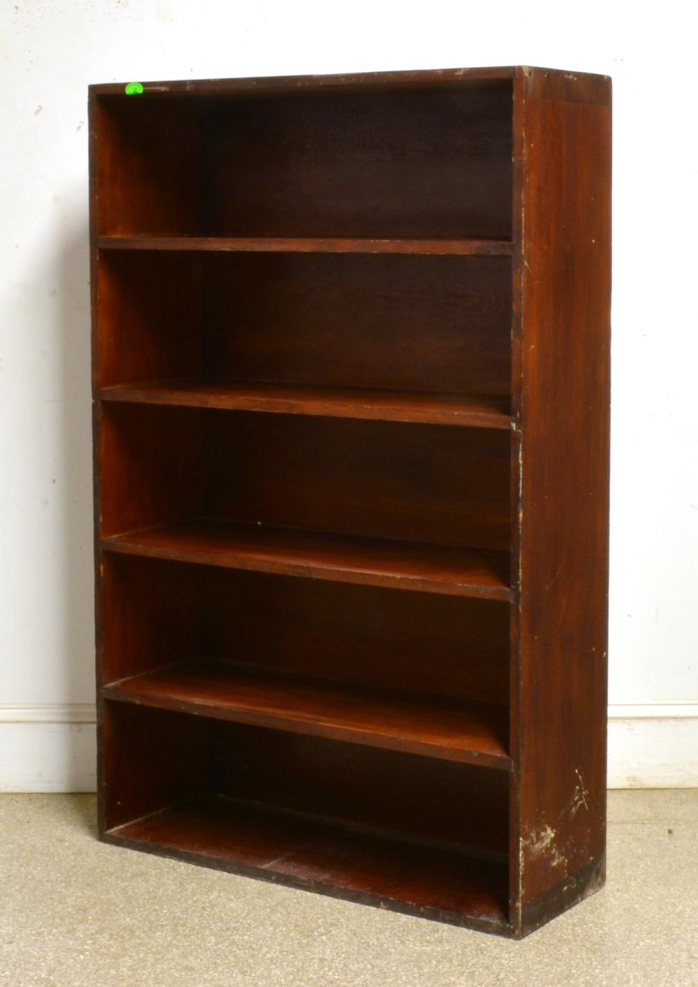 Antique Solid Wood Open Bookcase