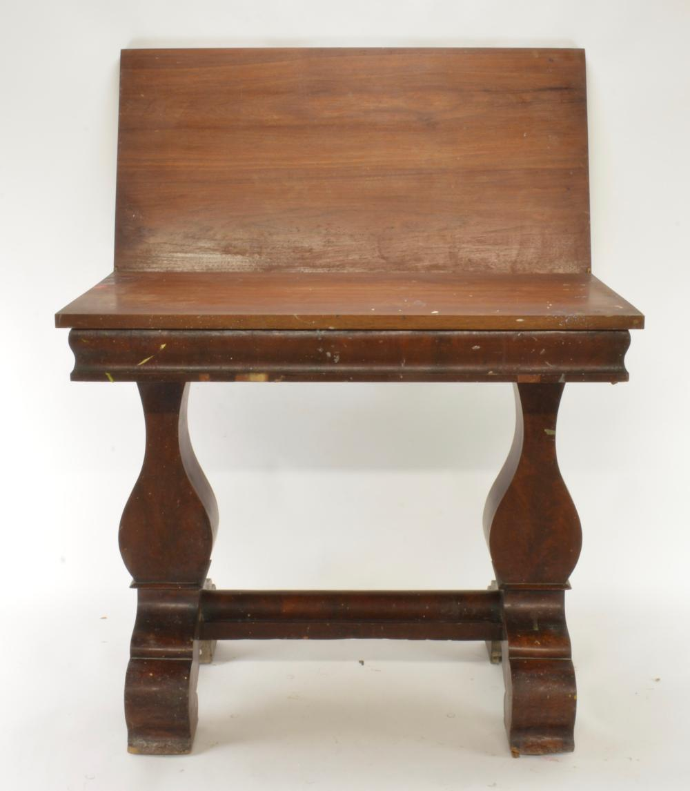 Early American Empire Game Table